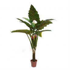 Kunstig taro plante H160cm m/plastpotte