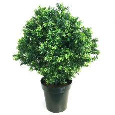 Kunstig buksbom busk sun basil UV H75cm