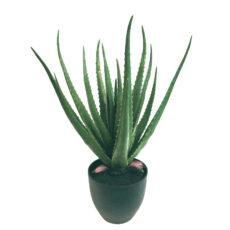 Kunstig aloe vera plante H60cm m/plastpotte