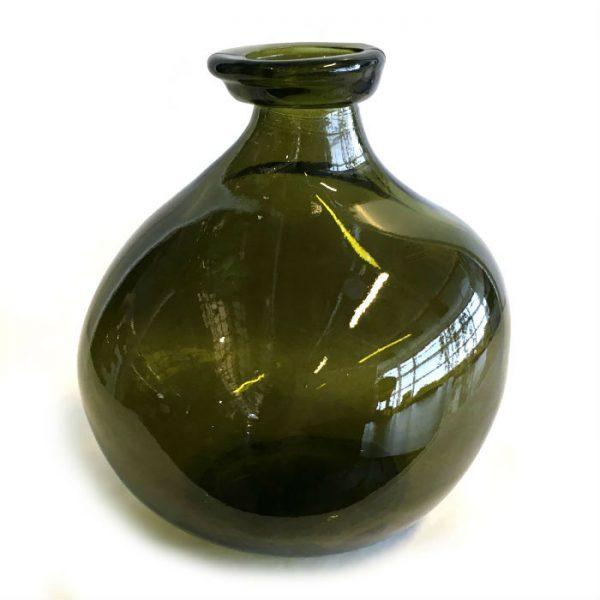 Glassvase oliven H18cm