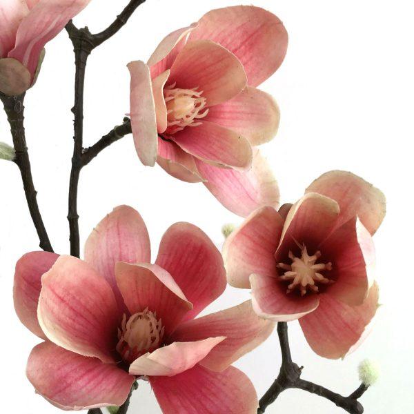Kunstig magnolia gren ferskenrosa 90cm