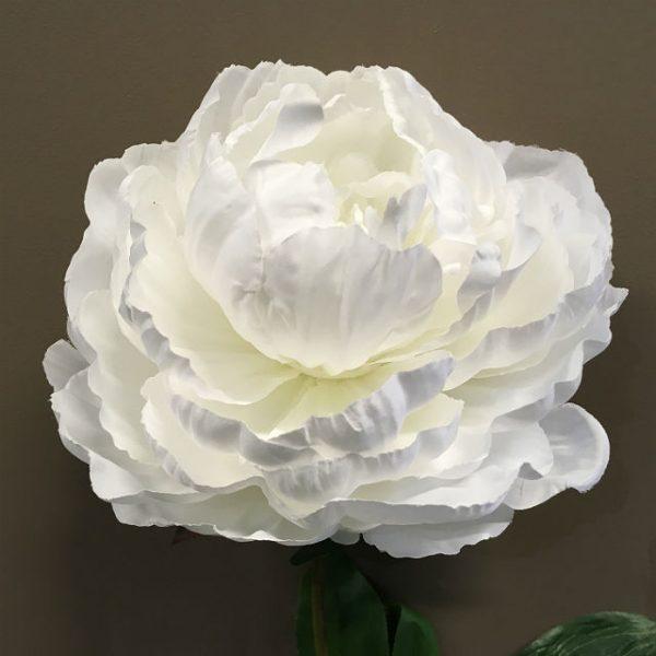 Kunstig peon hvit Ø16x81cm
