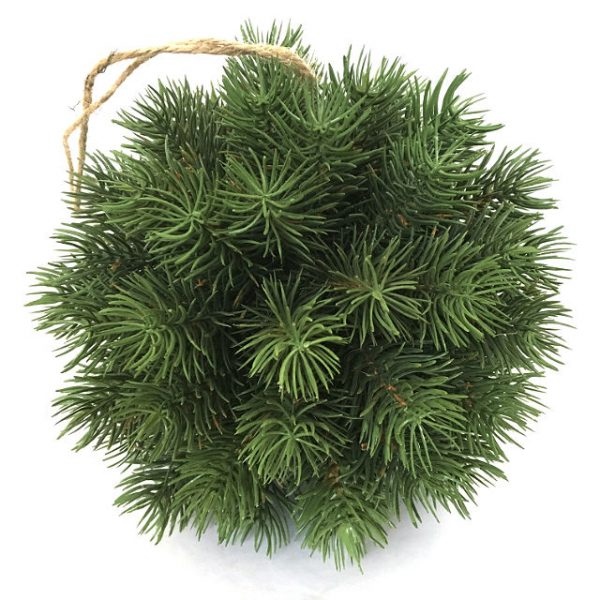 Kunstig julekule gran m/tråd Ø14cm