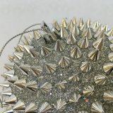 Julekule nagle sølv m/tråd Ø12cm *SALG