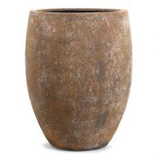 Potte sandy cone poly brun Ø53xH70cm