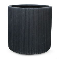 Potte vertical poly sort Ø30xH30cm