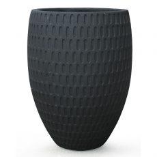 Potte graphic cone poly sort Ø53xH70cm