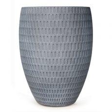 Potte graphic cone poly grå Ø53xH70cm