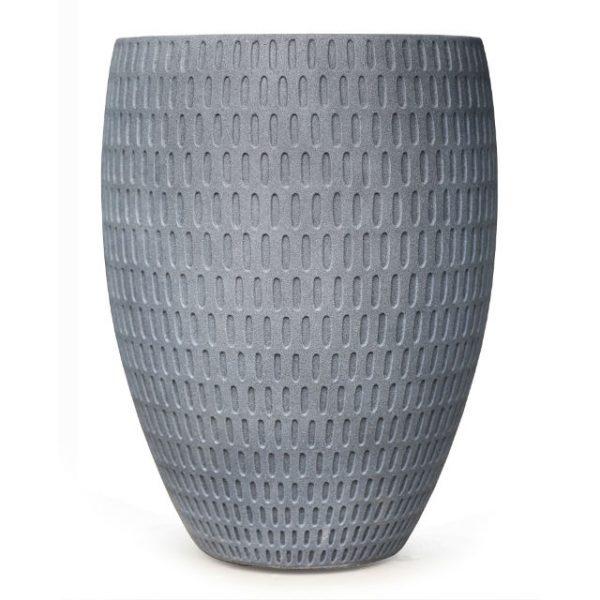 Potte graphic cone poly grå Ø53xH70cm *SALG