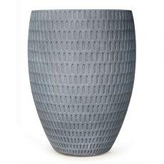 Potte graphic cone poly grå Ø33xH44cm