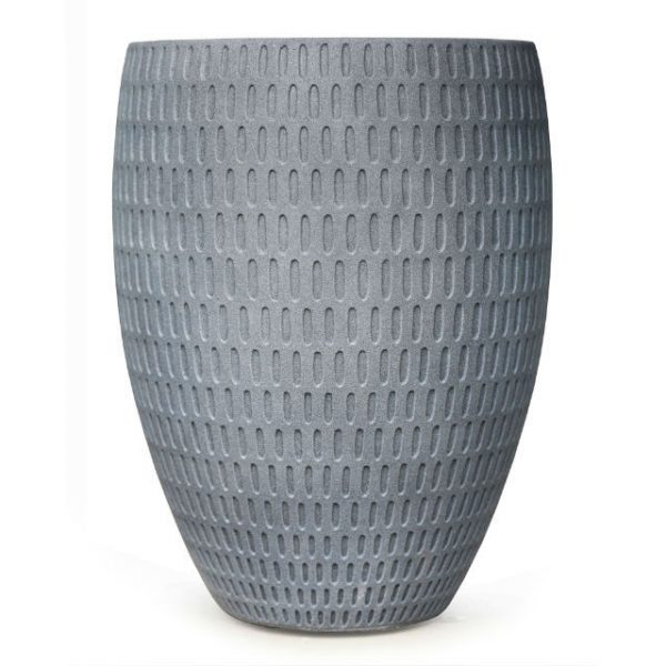Potte graphic cone poly grå Ø33xH44cm *SALG