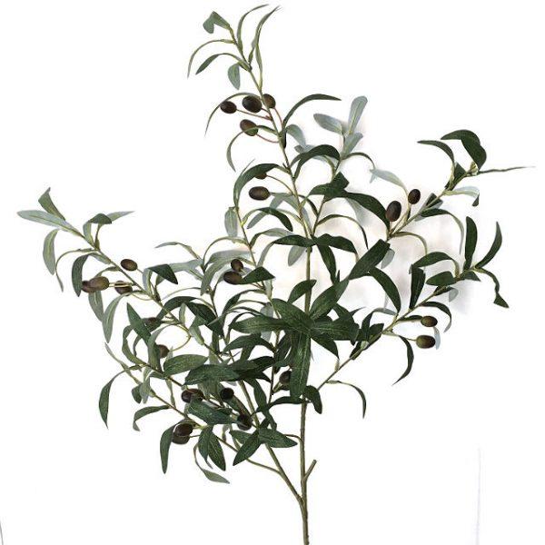 Kunstig gren oliven L100cm