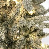 Kunstig juletre snø H210cm m/lys *SALG