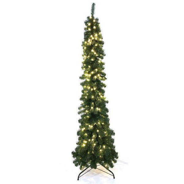 Kunstig juletre dekor H210cm m/lys ute/inne *SALG