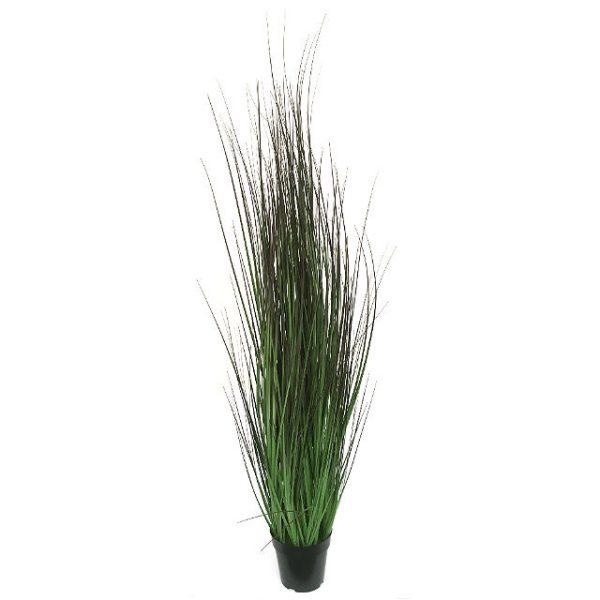 Kunstig gress plante grønn/burgunder H150cm