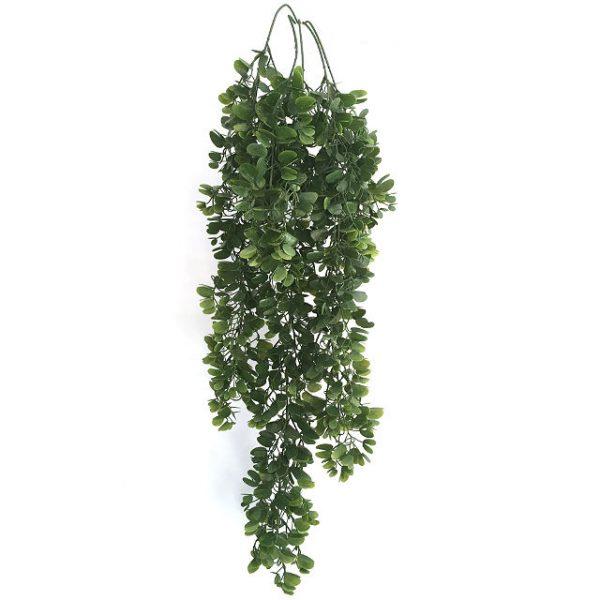 Kunstig boxwood hengeplante fyldig L84cm u/potte