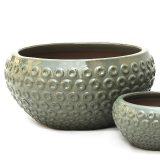 Potte bowl ceramics grågrønn Ø49xH24cm *SALG
