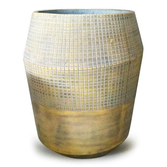 Potte decor cement gul Ø63xH72cm
