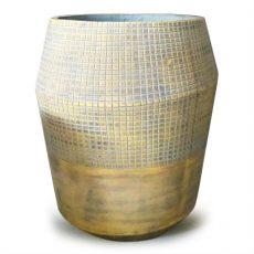 Potte decor cement gul Ø32xH37cm