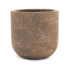 Potte sandy poly brun Ø70xH70cm