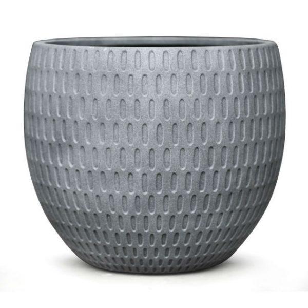 Potte graphic poly grey Ø52xH45cm *SALG