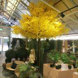 Kunstig ginkgotre gul H400cm