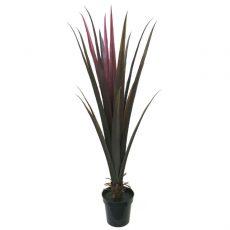 Kunstig agave plante bordaux H135cm