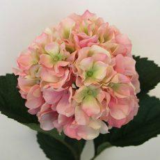Kunstig hortensia domed lys rosa 90cm *SALG