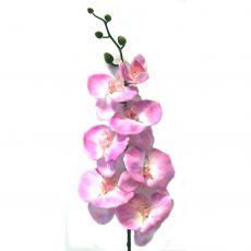 Kunstig orchide phalaenopsis gigant rosa 125cm *SALG