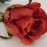Kunstig rose fire orange 45cm *SALG