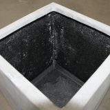 Potte rex fiberstone square høy grå L40xB40xH150cm *salg