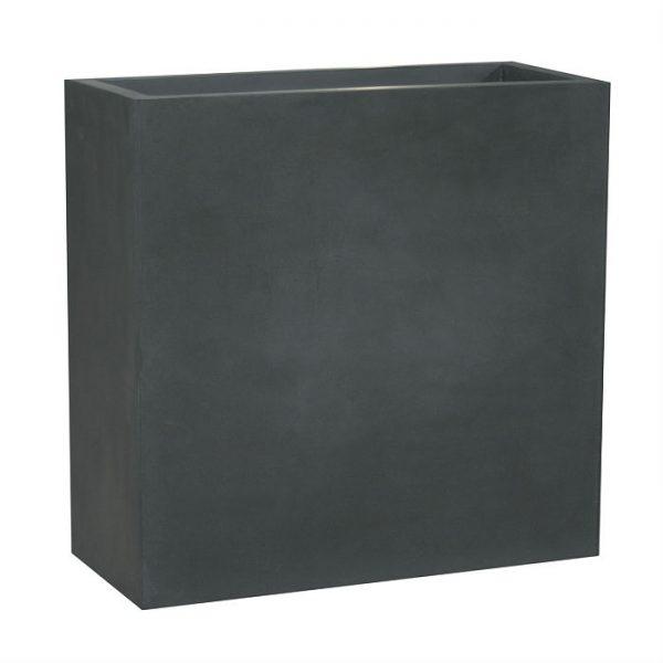 Potte rex fiberstone rektangel sort L100xB40xH70cm *SALG