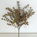 Kunstig eucalyptus plante gylden/grønn H29cm u/potte *SALG