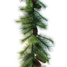 Kunstig girlander asheville mixed pine m/kongler 275cm