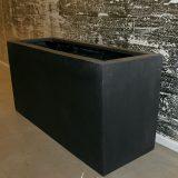 Potte rex fiberstone rektangel sort L80xB30xH40cm