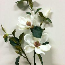 Kunstig magnolia prakt gren creme 90cm *SALG