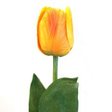 Kunstig tulipan gul/orange 47cm *SALG