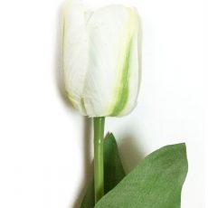 Kunstig tulipan hvit/grønn 47cm *SALG