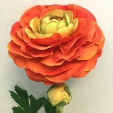 Kunstig ranunkel orange 50cm *SALG