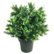 Kunstig buksbom busk sun basil UV H55cm