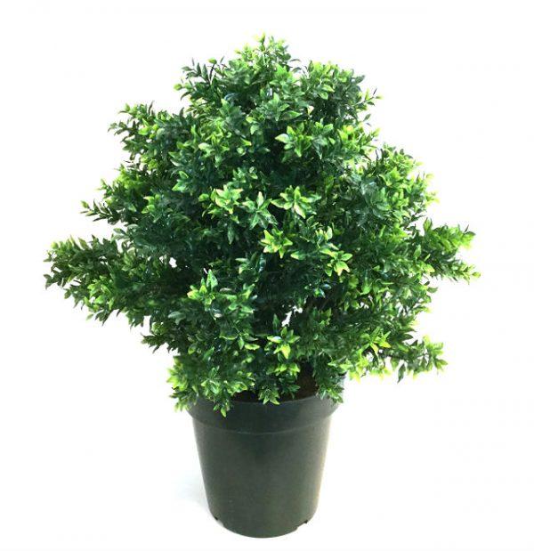 Kunstig buksbom busk sun basil UV H65cm