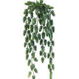 Kunstig humle hengeplante grønn 75cm u/potte