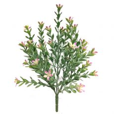 Kunstig saxifraga plante rosa H25cm u/potte *SALG