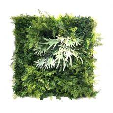 Plantevegg mix av grønne planter 100x100cm