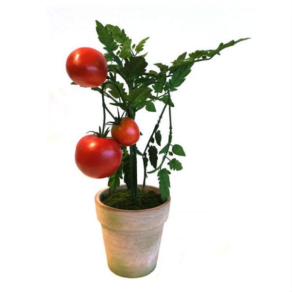 Kunstig tomat plante H35cm m/potte *SALG