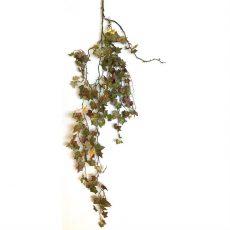 Kunstig eføy hengeplante gylden 160cm u/potte