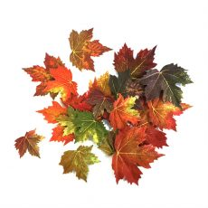 Kunstig lønn blader høst assortert 20stk *SALG