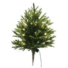 Kunstig juletre Angel fir m/kongler H70cm u/potte m/lys ute/inne