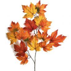 Kunstig lønn gren orange 90cm *SALG
