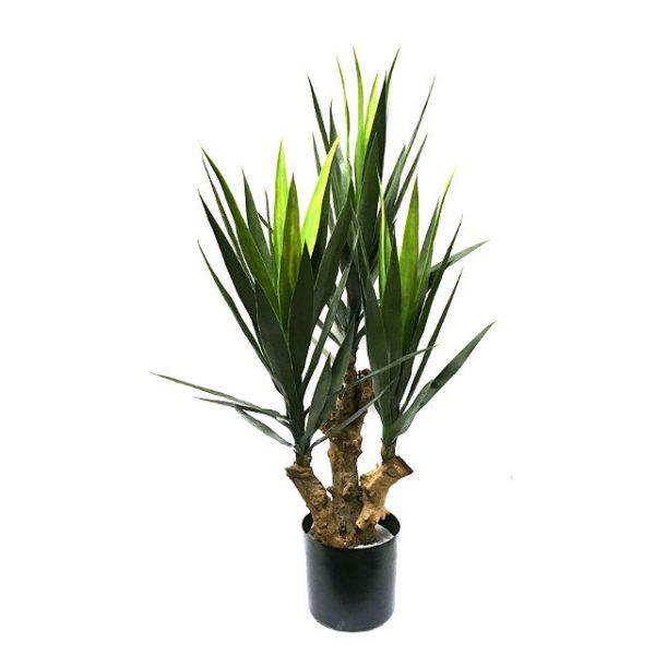 Kunstig yucca spiky grønn H115cm